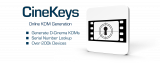 CineKeys - Online KDM Generation - Generate D-Cinema KDMs, Serial Number Lookup, Over 200k Devices.