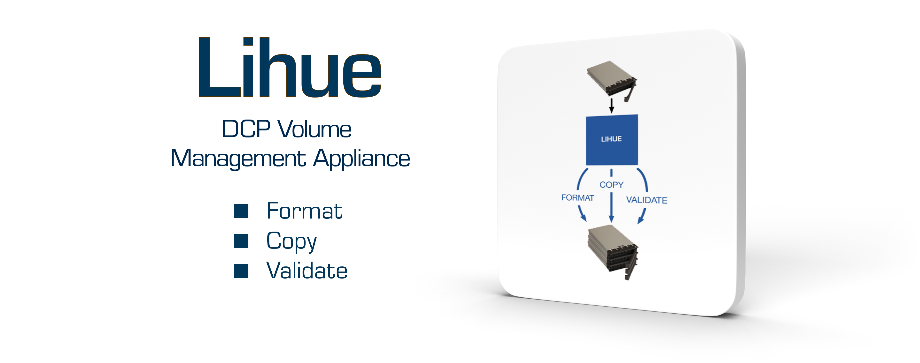 Lihue - DCP Volume Management Appliance - Format - Copy - Validate